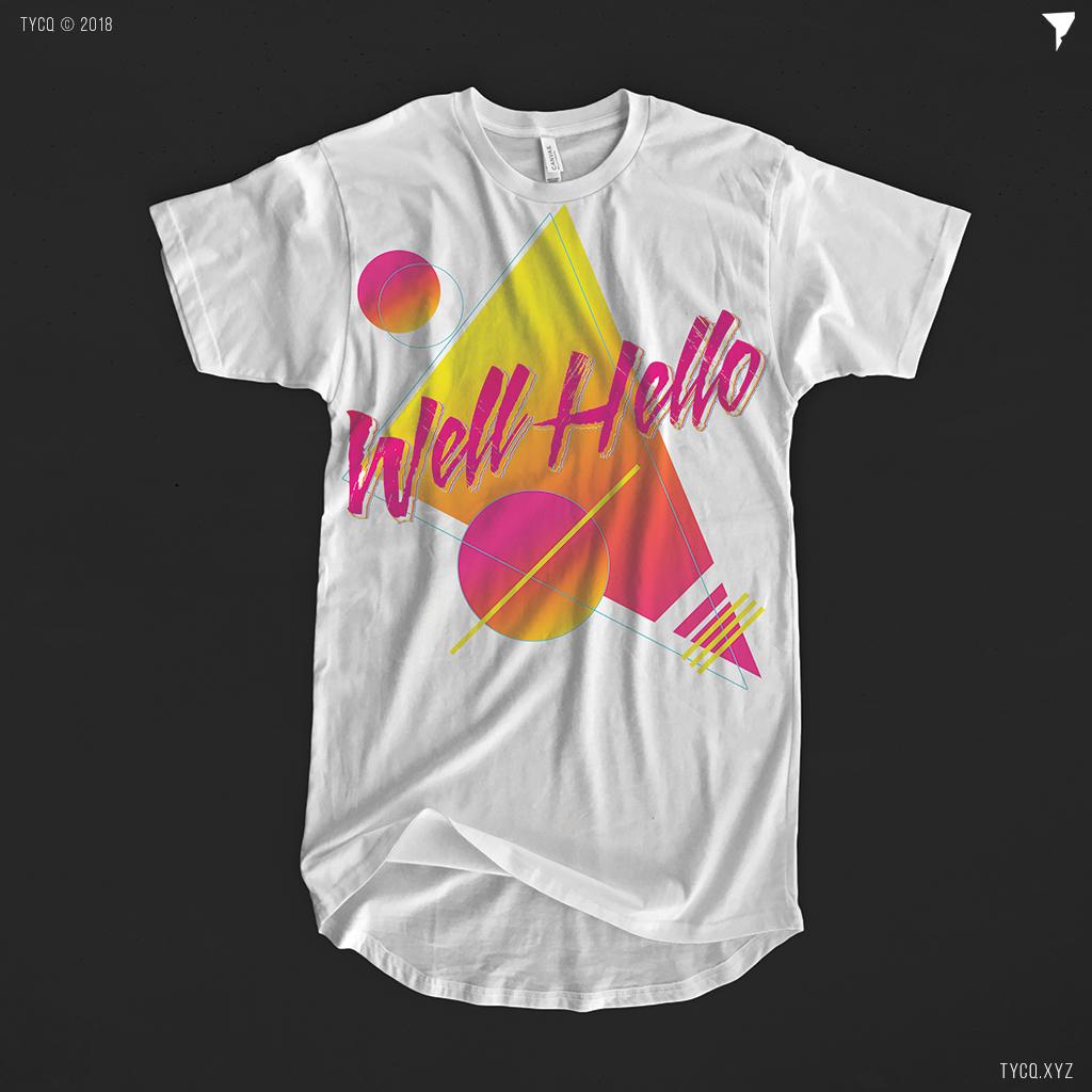 Wellhello T-shirt concept - Graphic Design